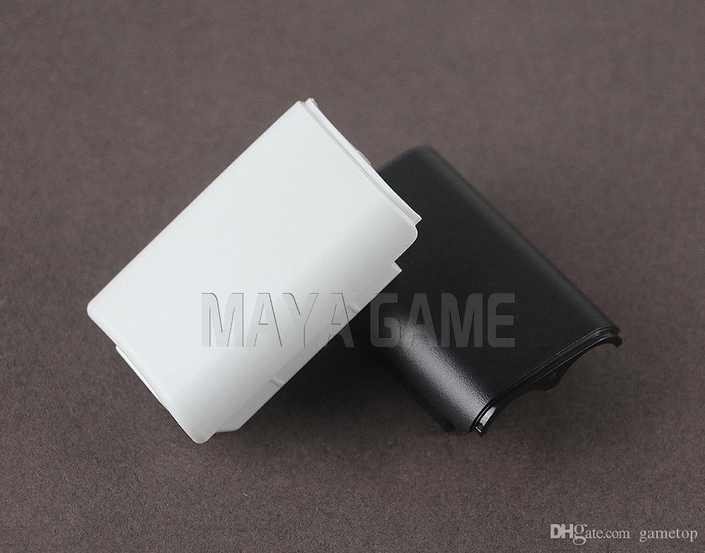 Черный Белый Аккумулятор Крышка Shell Shield Case Комплект для XBOX360 / Xbox 360 Беспроводной контроллер Запасные части