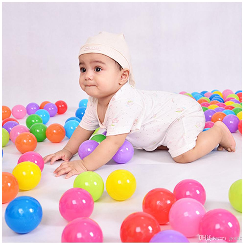 Colorful Ocean Ball 5.5 Diameter Soft Plastic Ocean Ball Toy Fun Outdoor/Indoor Kids Swim Pit Toy