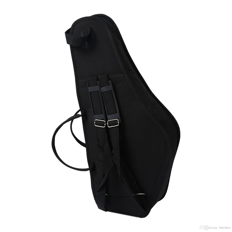 Étui de sac de saxophone étanche 600d double fermeture à glissière avec poche à bandoulière réglable