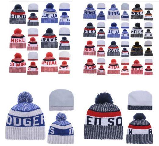 Großhandel Winter Strickmütze Strickmützen American Sports Teams Beanies Caps Frauen Männer populäre Art und Weise Winter Top-Qualität Hut DHL-freies Verschiffen