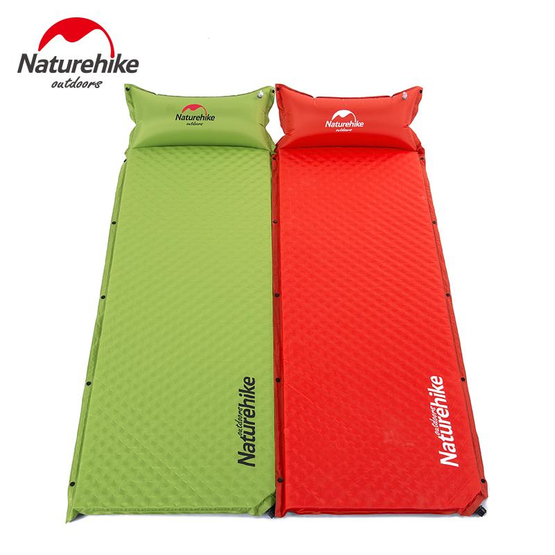 NatureHike Ultralight Singleplayer Tube Air colchón inflable Cojín inflable al aire libre que acampa almohadilla para dormir a prueba de humedad