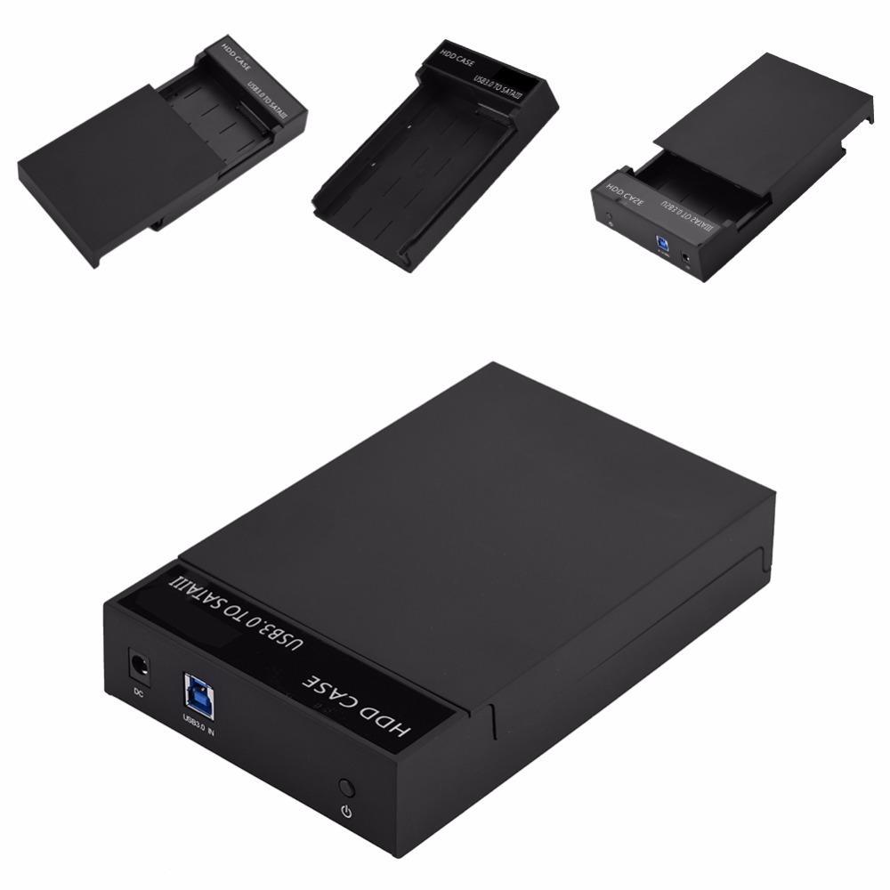 "Freeshipping USB3.0 To SATA 2.5"" 3.5"" HDD SSD Case Hard Drive Disk External Storage Box Docking Station HDD Enclosure"