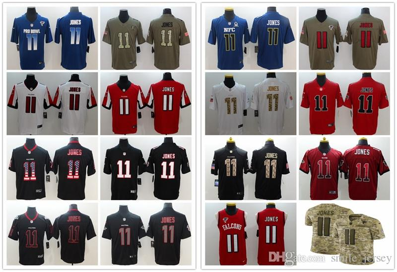super popular 5bda6 aacdc 2019 New Mens 11 Julio Jones Atlanta Jersey Falcons Football Jersey 100%  Stitched Embroidery Julio Jones Color Rush Football Stitching Jersey From  ...