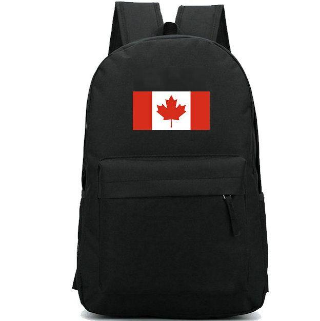 كندا العلم حقيبة الظهر القيقب ورقة البلاد اليوم حزمة طباعة بانر حقيبة مدرسية عارضة packsack جيدة حقيبة الظهر الرياضة المدرسية في الهواء الطلق daypack