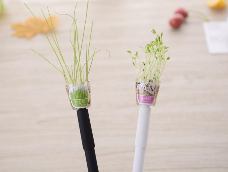 1 قطعة lytwtw الإبداعية الصغيرة الطازجة 0.5 ملليمتر هلام القلم العشب نبات القلم لطيف fleshines اللوازم المدرسية اللوازم المكتبية