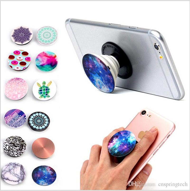 Titular Universal Celular com pacote azul Real 3 M cola Expansível Stand Grip 360 Graus Dedo Titular Flexível Para iPhone Samsung DHL