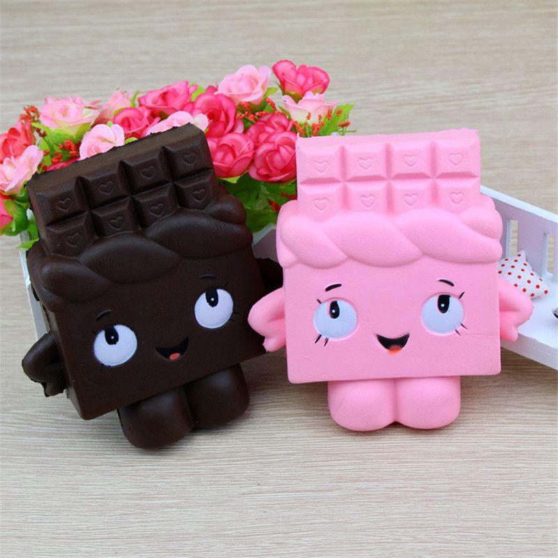 Трансграничные для медленного отскока Squishy нового моделирования шоколада Pu шоколад модель фабрики прямых продаж