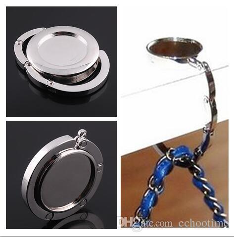 400PCS Blank Bag Hangers DIY Foldable Handbag Hanger Bag Purse Hanger folding Hook Holder for Restaurant Table