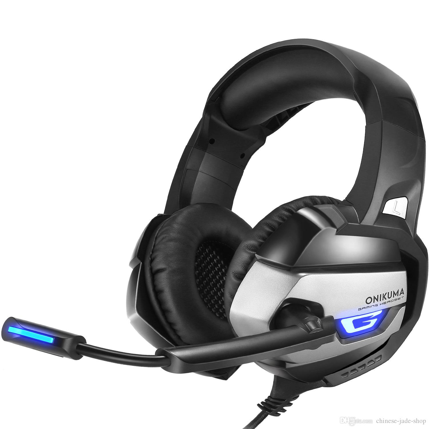 ONIKUMA K5 Best Gaming Headset Gamer casque Deep Bass Gaming Headphones for Computer PC PS4 Laptop Notebook with Microphone LED 10pcs/lot
