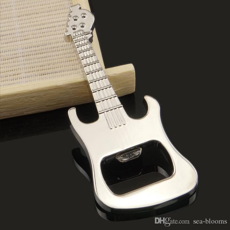 Multifonctionnel Musique Alliage De Zinc Guitare Bière Ouvre-bouteille Porte-clés Support OEM ODM LOGO Personnalisé Porte-clés Porte-clés Porte-clés Accessoires H847R