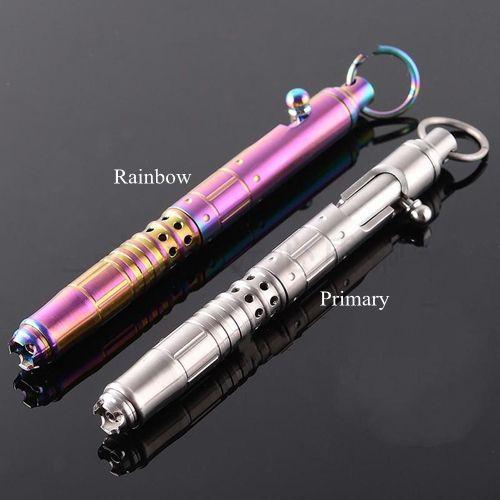 Titanium TC4 140mm lungo 50g Tactical Bolt azione penna gel EDC difesa personale lucidato superficie arcobaleno primario colori per opzione