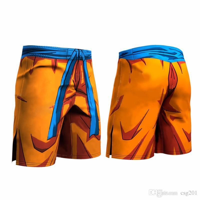 Mens Shorts Dragon Ball 3D Print Compression Tights Elastic Fitness Men Joggers Quick Drying Underpants Sport Gym Shorts Plus Size XXXL