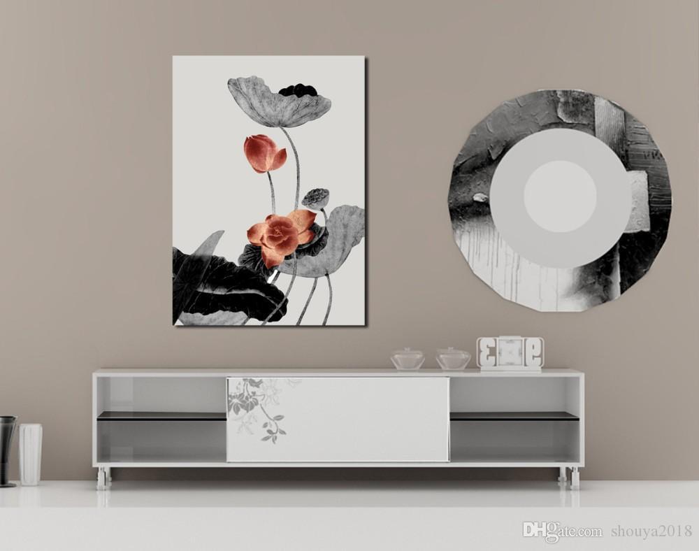 Envío gratis pinturas abstractas oficina de fotos en blanco y negro de una pieza de pared de arte de la lona de decoración del hogar