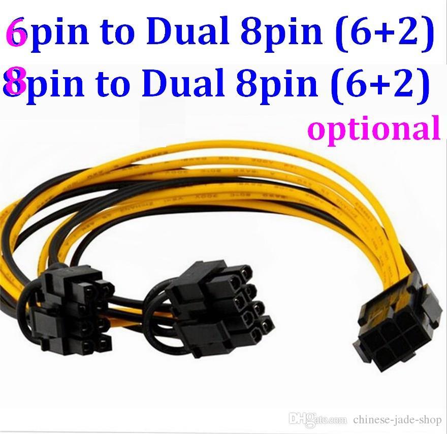8-контактный / 6-контактный PCI Express до 2 х PCIe 8 (6+2) контактный материнская плата Видеокарта Видеокарта PCI-E в процессор Разветвитель питания кабель-концентратор для VGA 20см 20шт/много