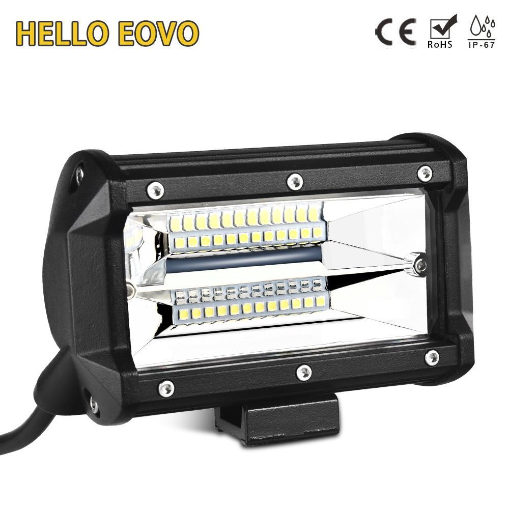 HELLO EOVO 5,2 inch 2 Reihen LED Lichtleisten für Indikatoren Offroad Boot Auto Traktor Lkw 4x4 SUV ATV 12 V 24 v
