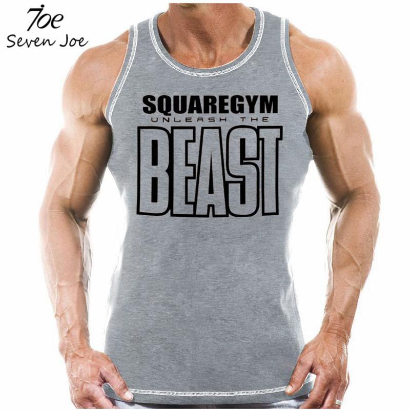 Tasarımcı Yeni Fitness Erkekler Tank Top Beast Baskı Erkek Spor Salonları Vücut Stringers Tankı Atlet Marka Giyim Tops