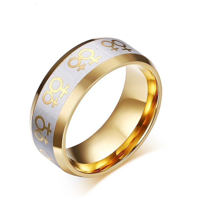 Можно смешать заказ золото серебро цвет мода простой любовника кольцо из нержавеющей стали кольца ювелирные изделия подарок для мальчиков девочек J009