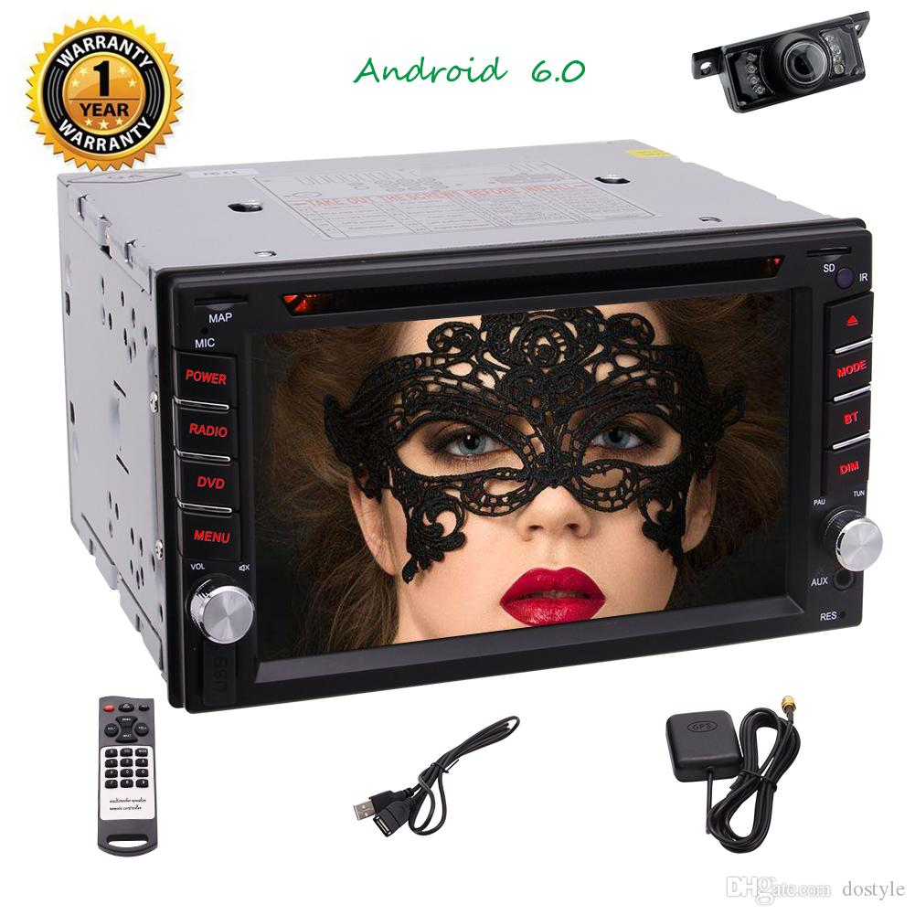 2GB RAM Double 2 din 6.2 '' Sistema audio stereo Android 6.0 touchscreen Autoradio Bluetooth Headunit in Dash Car DVD Player