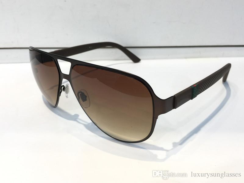 Luxury 2252 Designer Sunglasses For Men Fashion Wrap Sunglass Pilot Frame Coating Mirror Lens Carbon Fiber Legs Summer Style 2252S