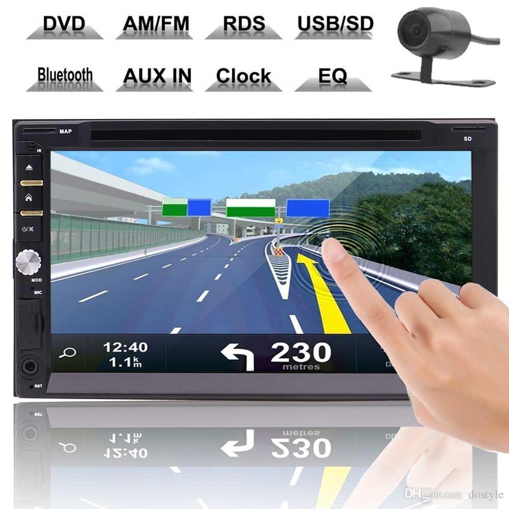 """Car Stereo 7 """"Doppio 2 Din Car DVD Auto Radio Audio Testa Unità lettore cd in Dash GPS Navigation AM / FM Touch Screen"""