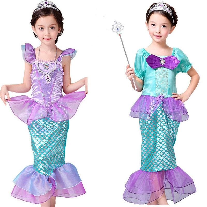 La SIRENETTA Bambini Costume Principessa Ariel cosplay costume per bambini Girl