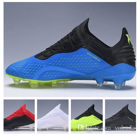 2018 nova X18.1 tricô impermeáveis sapatos Copa do Mundo FG Futebol X18.1 FG formação Sneakers, cravejado chuteiras cleated, Camping Caminhadas Botas