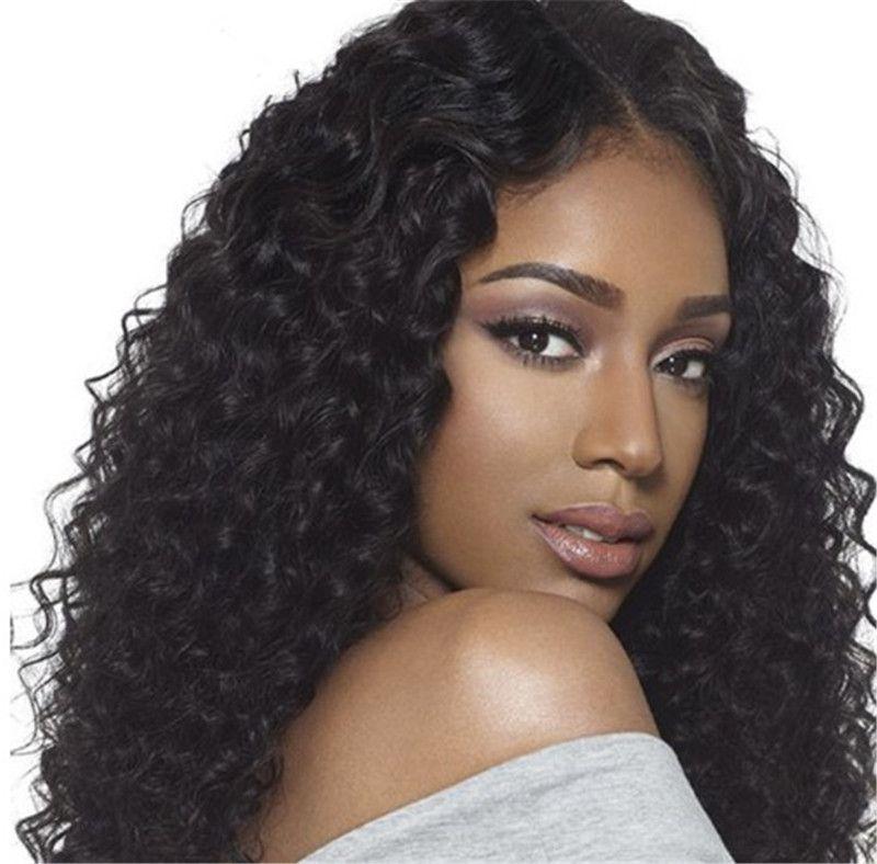 Deep Wave Silk Top Wig Human Hair Lace Front Wig for Black Women Indian Virgin Human Hair FDshine