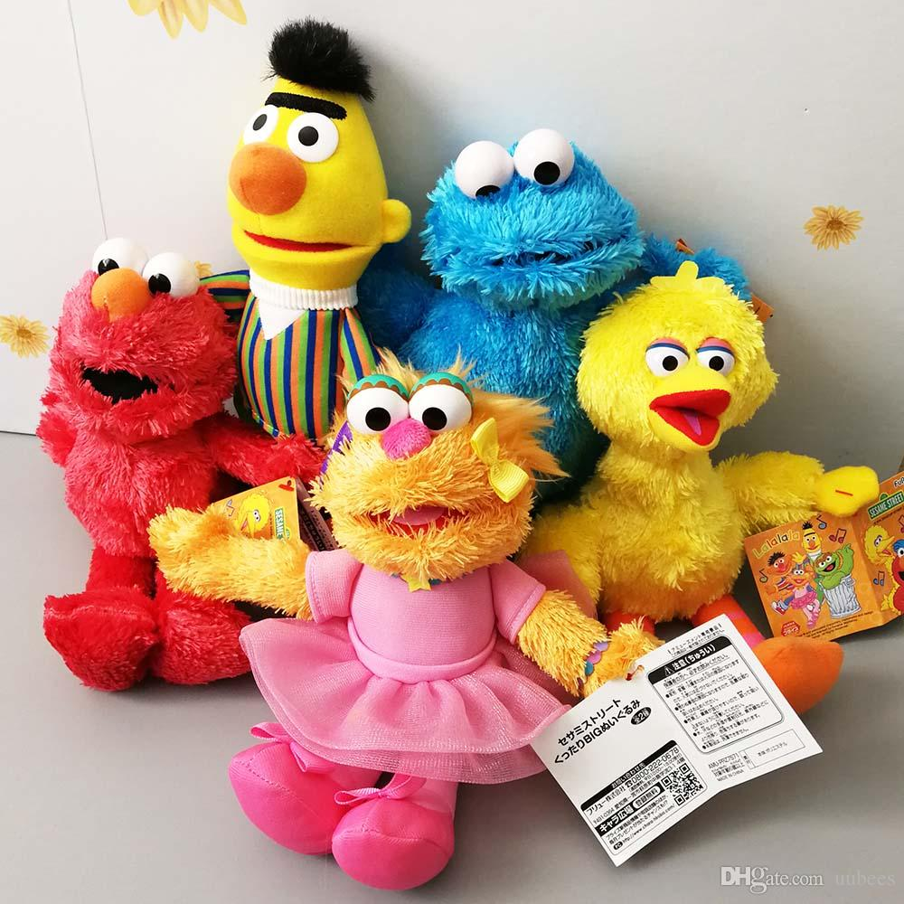 EMS Sesame Street Elmo Cookie Monster Big Bird Bert Ballerina Zoe 24CM Plush Doll Stuffed Best Gift Soft Toy