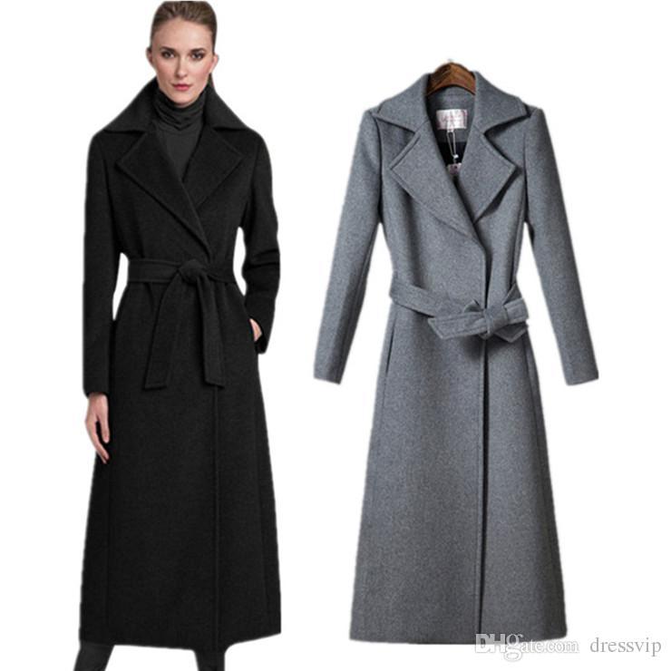 grande vente b70f2 7b6bc Acheter 2019 Femmes Manteau De Laine Manteaux Automne Et D'hiver Laine  Trench Coat Pour Femmes Casual Lâche Rayé Long Hiver Veste Femmes Manteau  ...