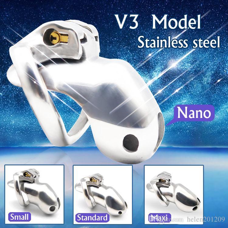 NUOVO ARRIVO Nice Design 316 Stainless Steel HT V3 Dispositivo per castità fatto a mano A380-SS