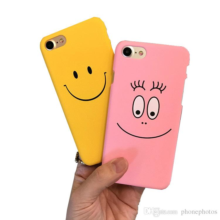 Funny Smile Faces For iphone 7 7plus Case For iphone5 5s 6 6S 6plus Back Cover Cute Cartoon Smile Couples Phone Cases Capa Coque
