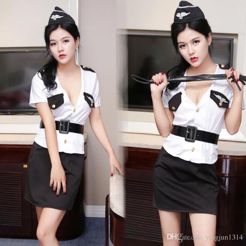 2020 JSY Adult Women Porno Lingerie Stewardess Costumes