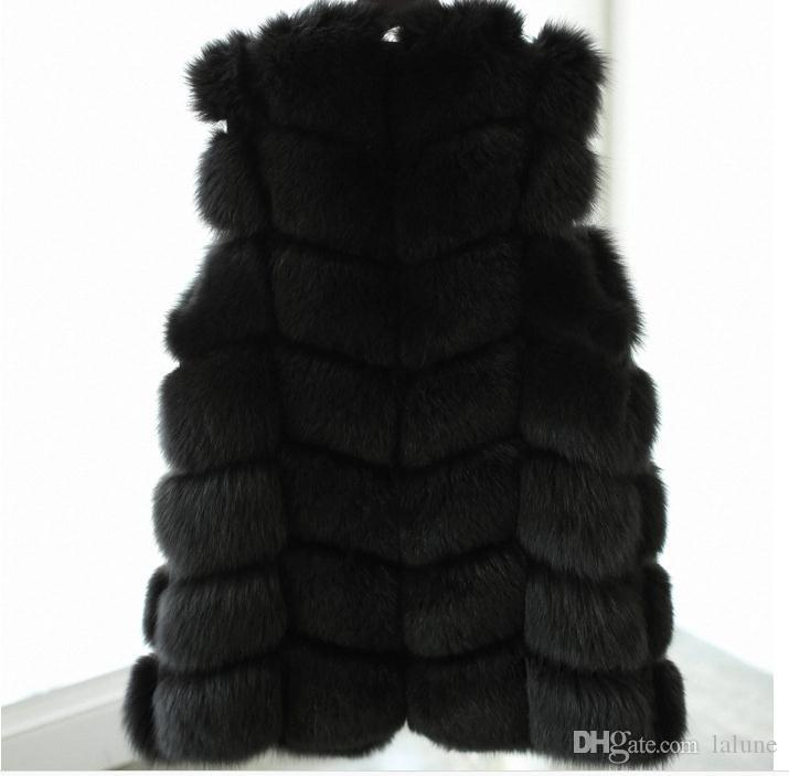 Noir Tricotée Acheter Blanc Lapin Plus Hiver Femmes Longue Taille De Gilet Vrai Colete Fourrure Naturel Vestes Manteau Renard En zSGMpVLqU