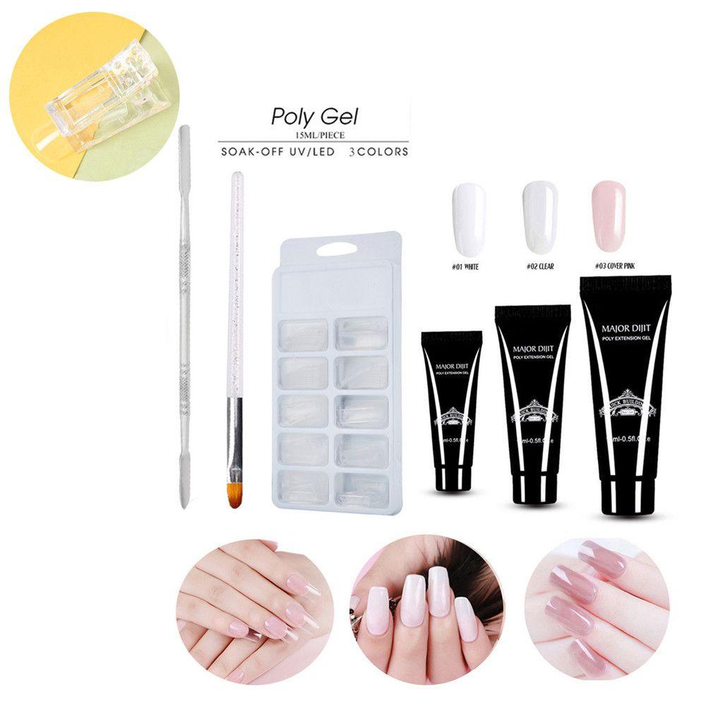 Professional Nails Kit Uv Gel Nail Manicure Nail Tips Extending