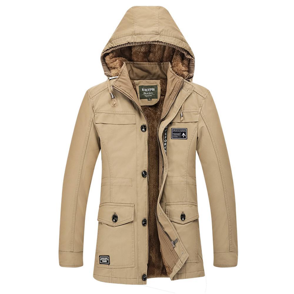 Winterjacke Herren Winter mittlerer Länge Hoodie Plus Size verdicken Baumwolle Windjacke Mantel # 1023 A # 733