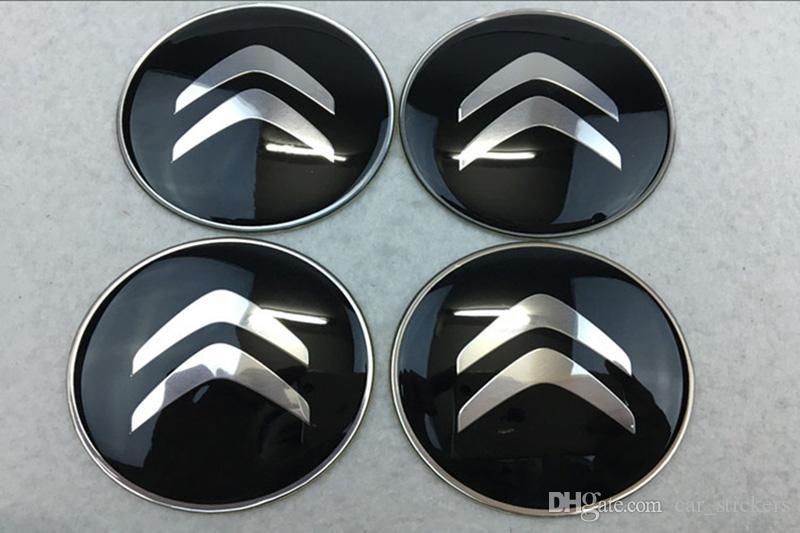 56.5mm 65mm Citroen Logo Araba Gümüş Tekerlek Hub Merkezi Caps Citroen C2 C4L C5 Için Amblem Styling araba Tekerlek Sticker