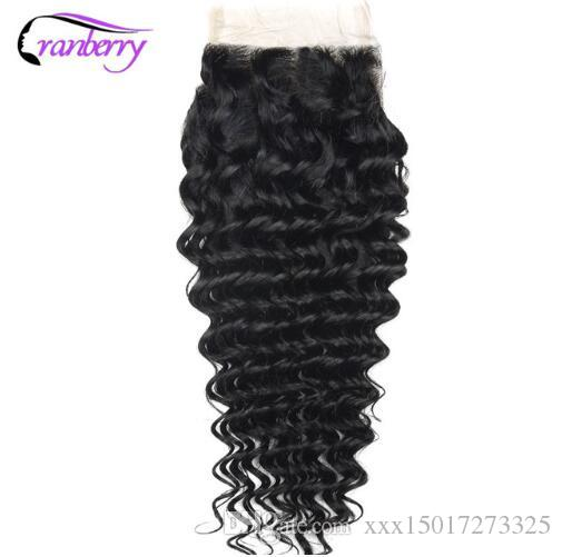 Hair Deep Wave Hairs Closure 100% Remy Human Hair Swiss Lace Closure Brazilian Human Hairing Closure