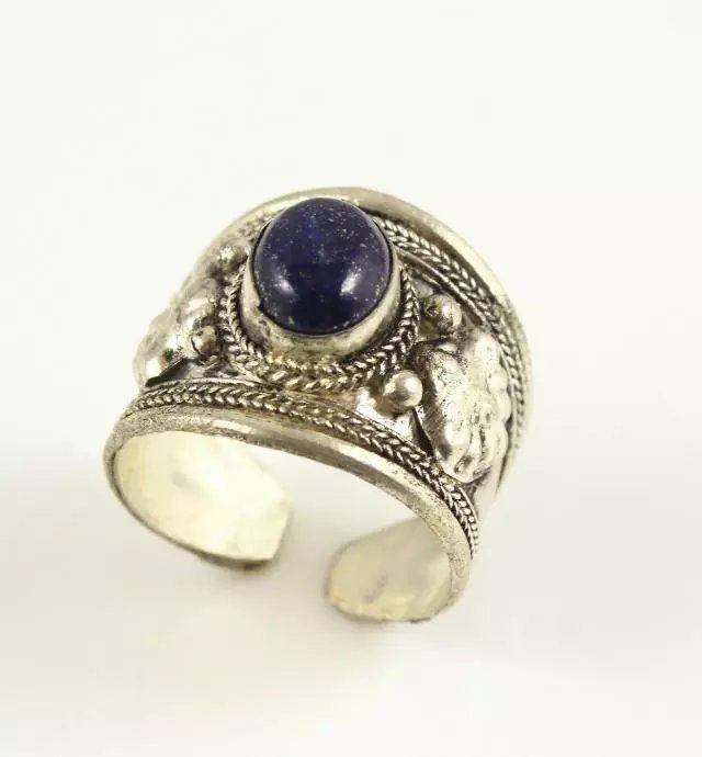 blue lapis lazuli Adjustable Size 8-9
