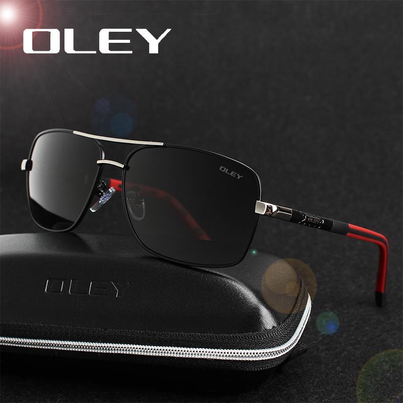 Олей поляризованные очки Мужчины Новые моды Глаза Защита Солнцезащитные очки с фурнитурой Унисекс вождения очки óculos-де-золь