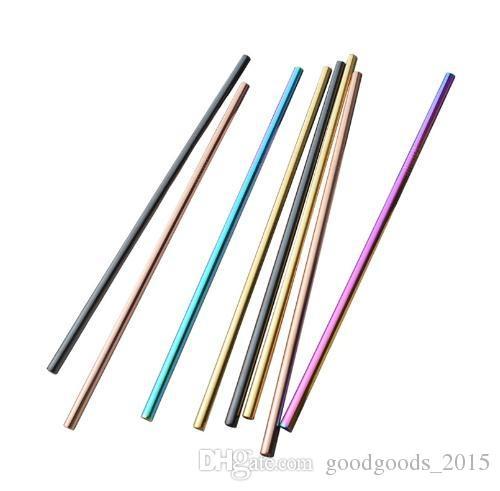 20 oz Renkli Paslanmaz Çelik Içme Saman Toptan Kullanımlık Saman Altın Metal Payet Gıda Sınıfı Sulu Parti Payet Bar c609