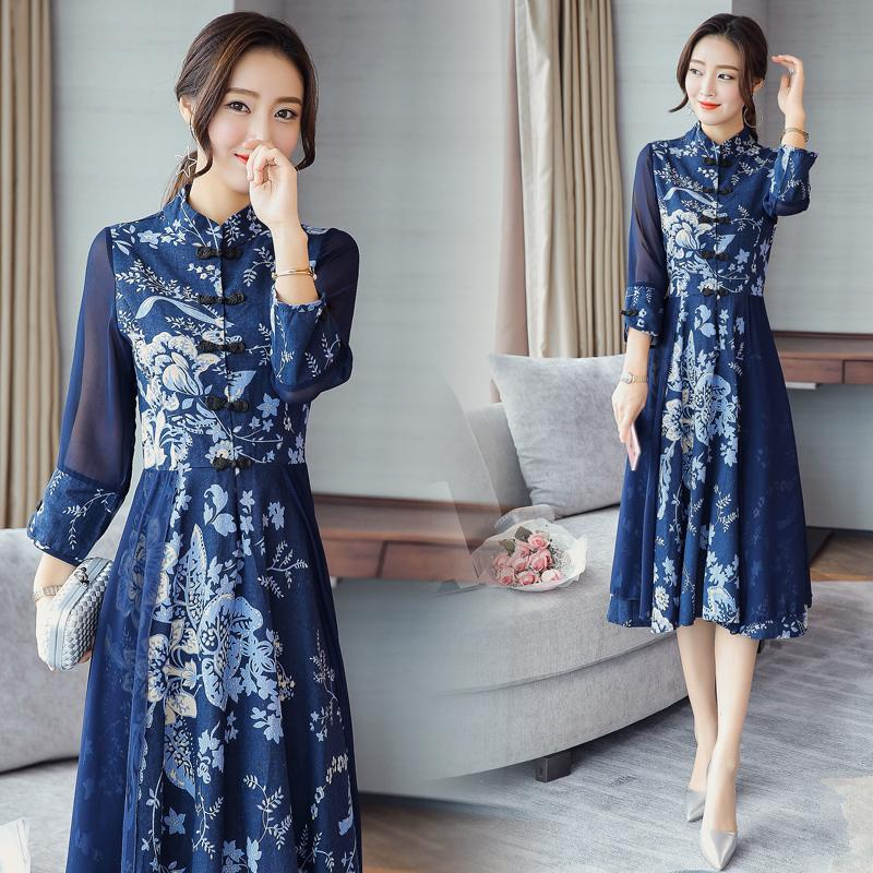2018 été robe de soirée chinoise mariée tailing toast mariage cheongsam rouge long qipao traditionnel qi pao