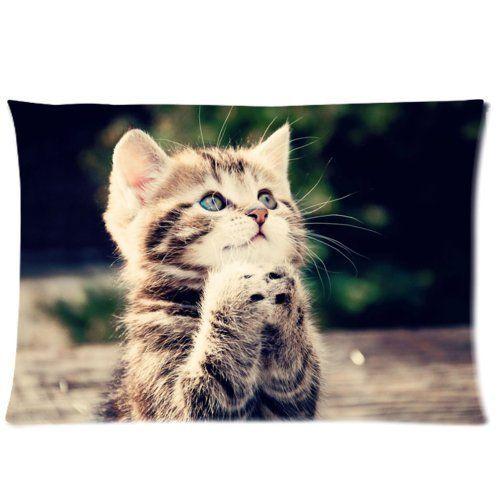 هريرة القط مخصص انغلق وسادة القضية لينة ومريحة 20x30 (الجانبين التوأم)