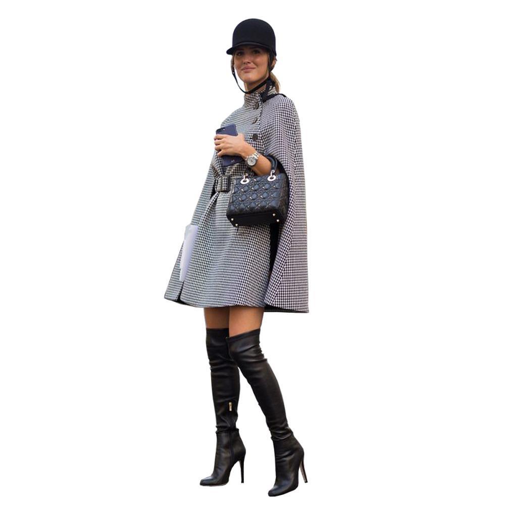 PADEGAO عباءة نمط أزياء سترة واقية 2017 الخريف الشتاء المرأة معطف الإمبراطورية الخط