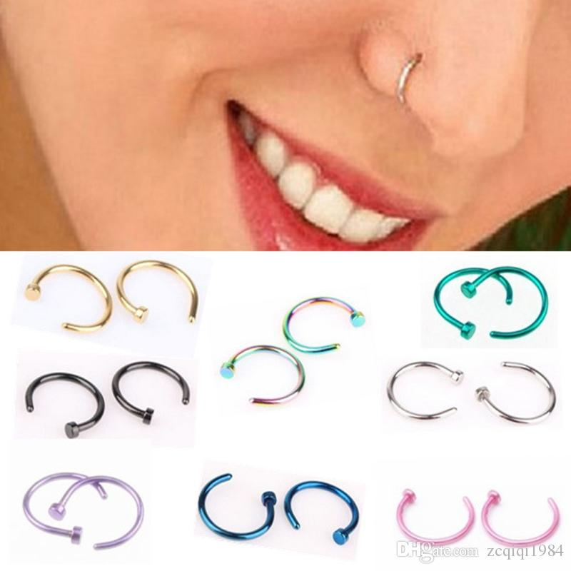 Fashion Fake Septum Medical Titanium Nose Ring Body Clip Piercing Jewelry For Women Punk Style Jewelry Gift