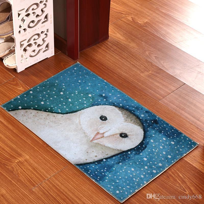Living Room Doormat 3D Pattern Carpet Rugs For Kitchen Hall Bathroom Floor Mat Anti-slip Bath Mat Lovely Foot Pad Toilet Doormat 50*80 cm