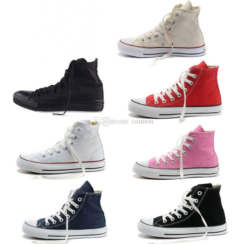 all size 35-46 New Fashion canvas shoes men women Big Kids Boys and girls shoes Low High unisex sneakers shoes Lovers XMAS gift 15 colors