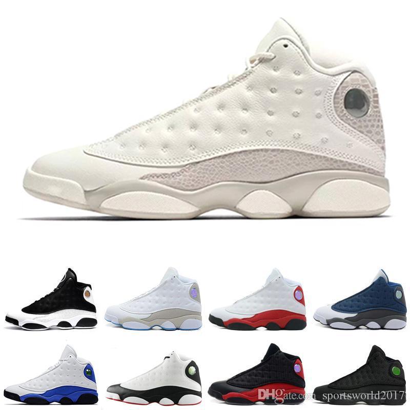 Оптовая новый баскетбол обувь кроссовки для мужчин 13 Phantom Bred он получил игру Белая голограмма atheletic Спорт дизайнер обуви онлайн продажа