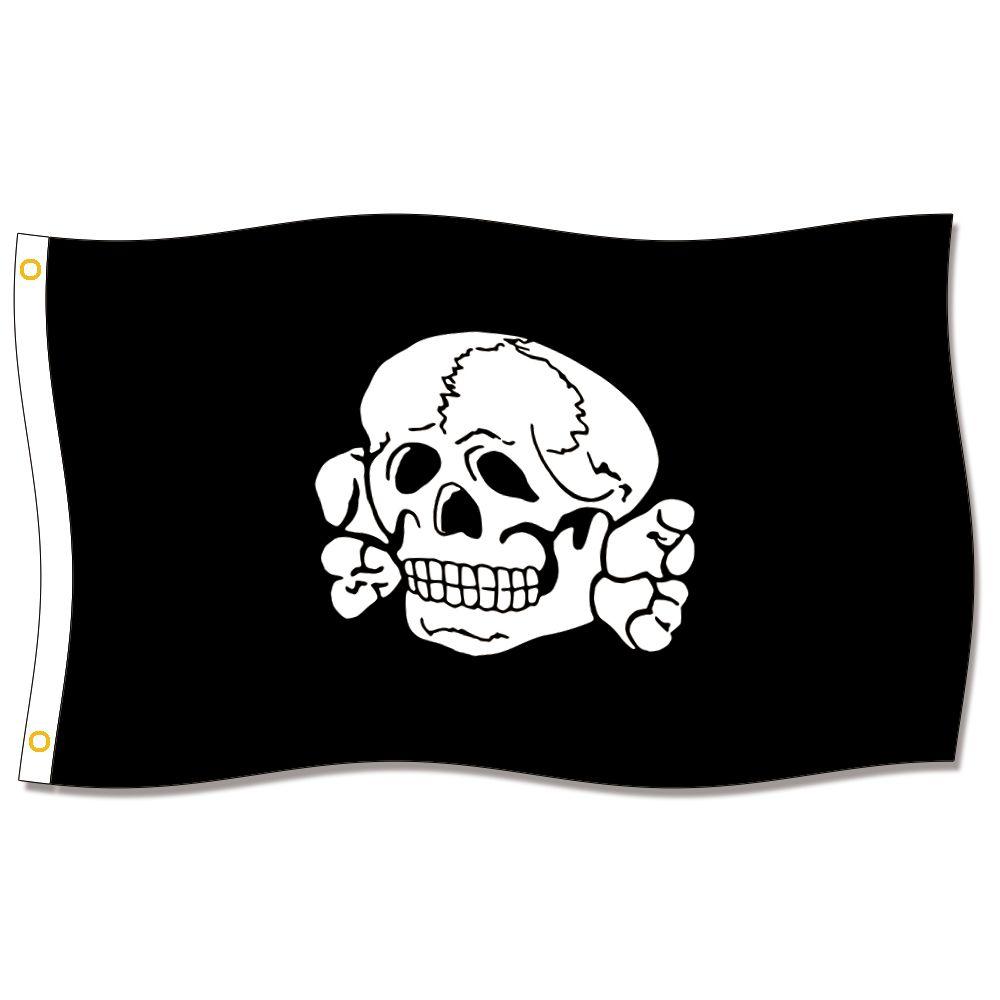 [İyi Bayrak] Totenkopf Fahne Bayrakları 3X5FT 150X90 CM 100% Polyester, Metal Grommet ile Tuval Kafası, Kullanılan Kapalı veya Açık Havada
