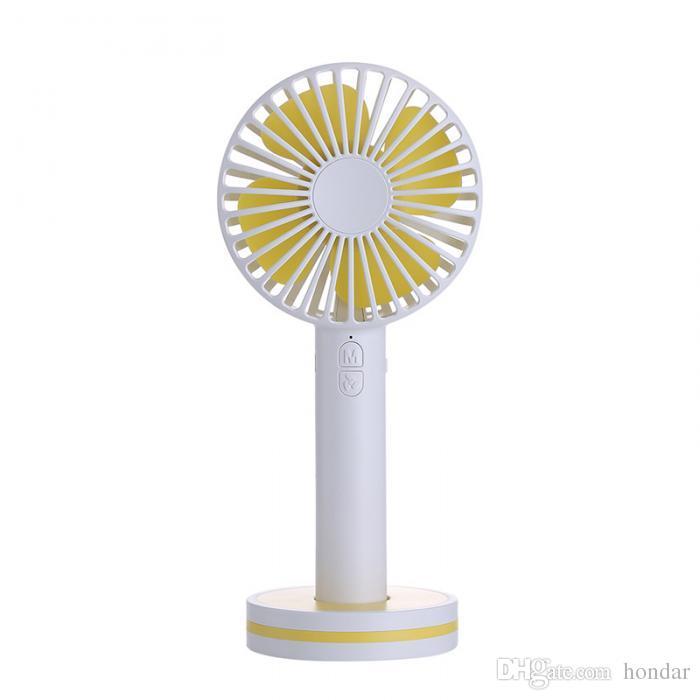 Neue Ankunft Süßigkeit färbt macaron usb nachladbarer Ventilator Karikatur-kreativer Miniusb-Ventilator Plastikaufladung beweglicher Desktop-stiller Handventilator