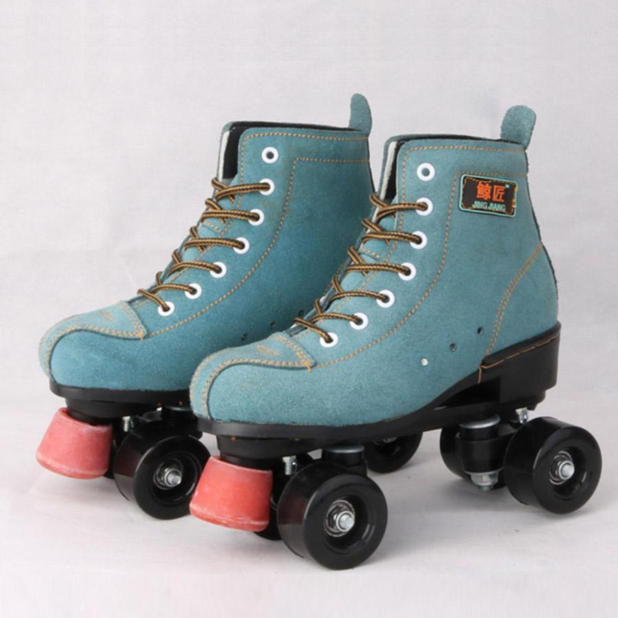 Line Skating Shoes Skates with Black Pu